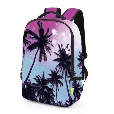 Side of Purple Palm Tree Backpack