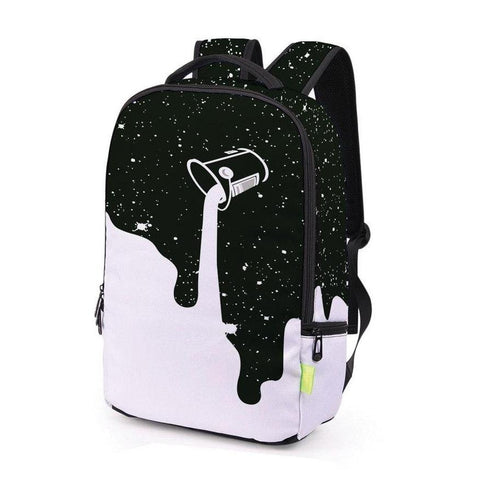 Black Dripping Paint Backpack