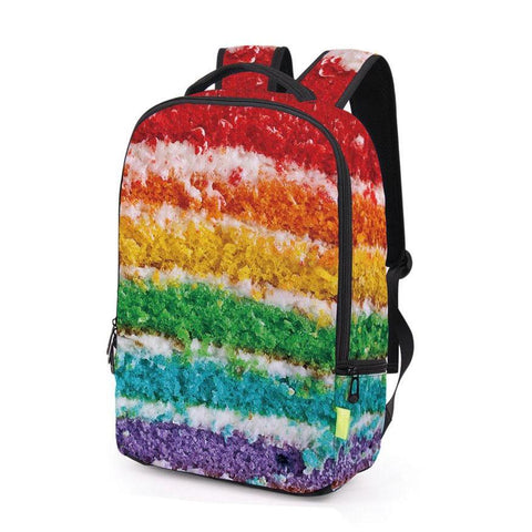 Colorful Rainbow Layer Cake Print Backpack