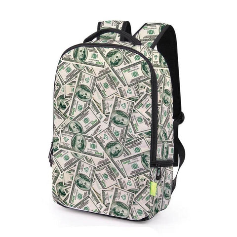 Canvas Cash / Money Print Backpack