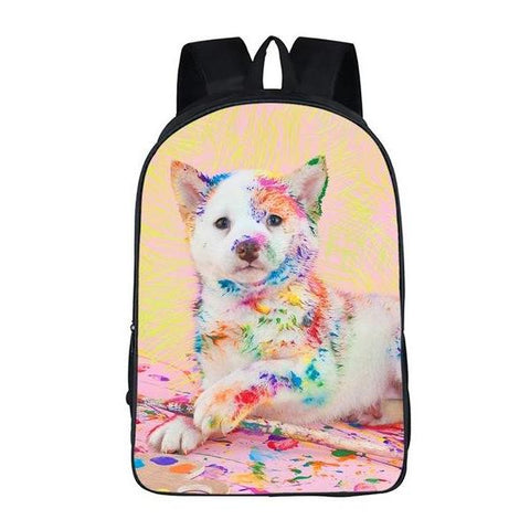Painting Puppy Dog Backpack Style 8