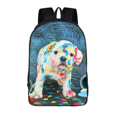 Painting Puppy Backpack Style 2