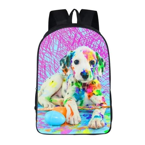 Painting Puppy Dog Backpack Style 1