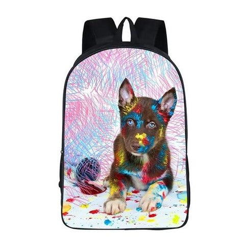 Painting Puppy Dog School Bag Style 3