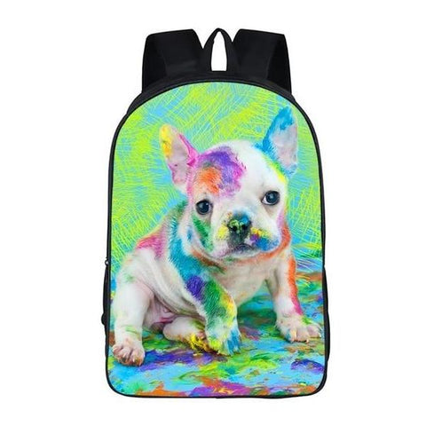 Painting Puppy Backpack Style 4