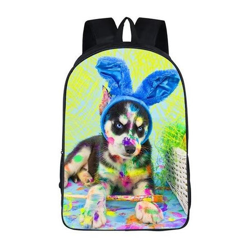 Painting Puppy Dog School Bag Style 7