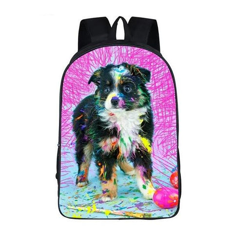 Painting Dog Backpack Style 5