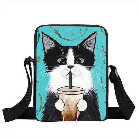 Cat Messenger Bag Style 1