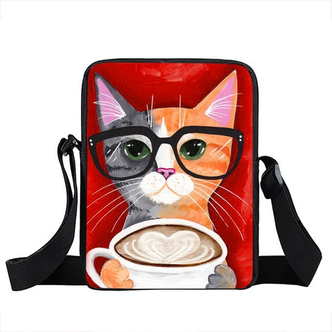 Mini Cat Messenger Bag Style 3
