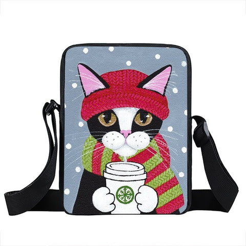 Cat Messenger Bag Style 8