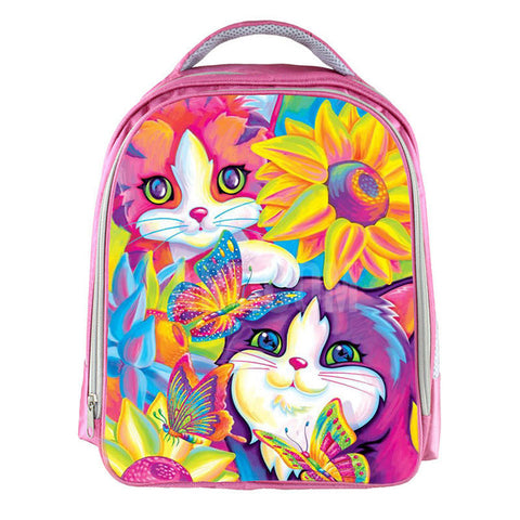 Lisa Frank Flower Cats Backpack