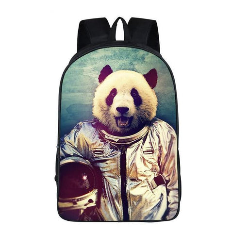 Funny Astronaut Panda Backpack