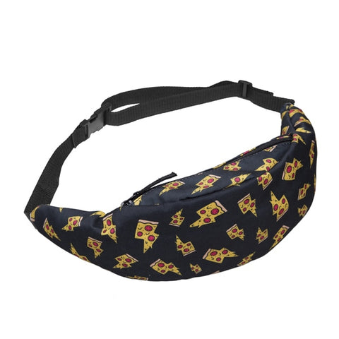 Pizza Print Fanny Pack Waist Bag