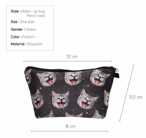 Cat Pencil Bag Sizing