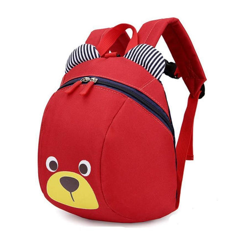 Red Anti-Lost Bear Backpack