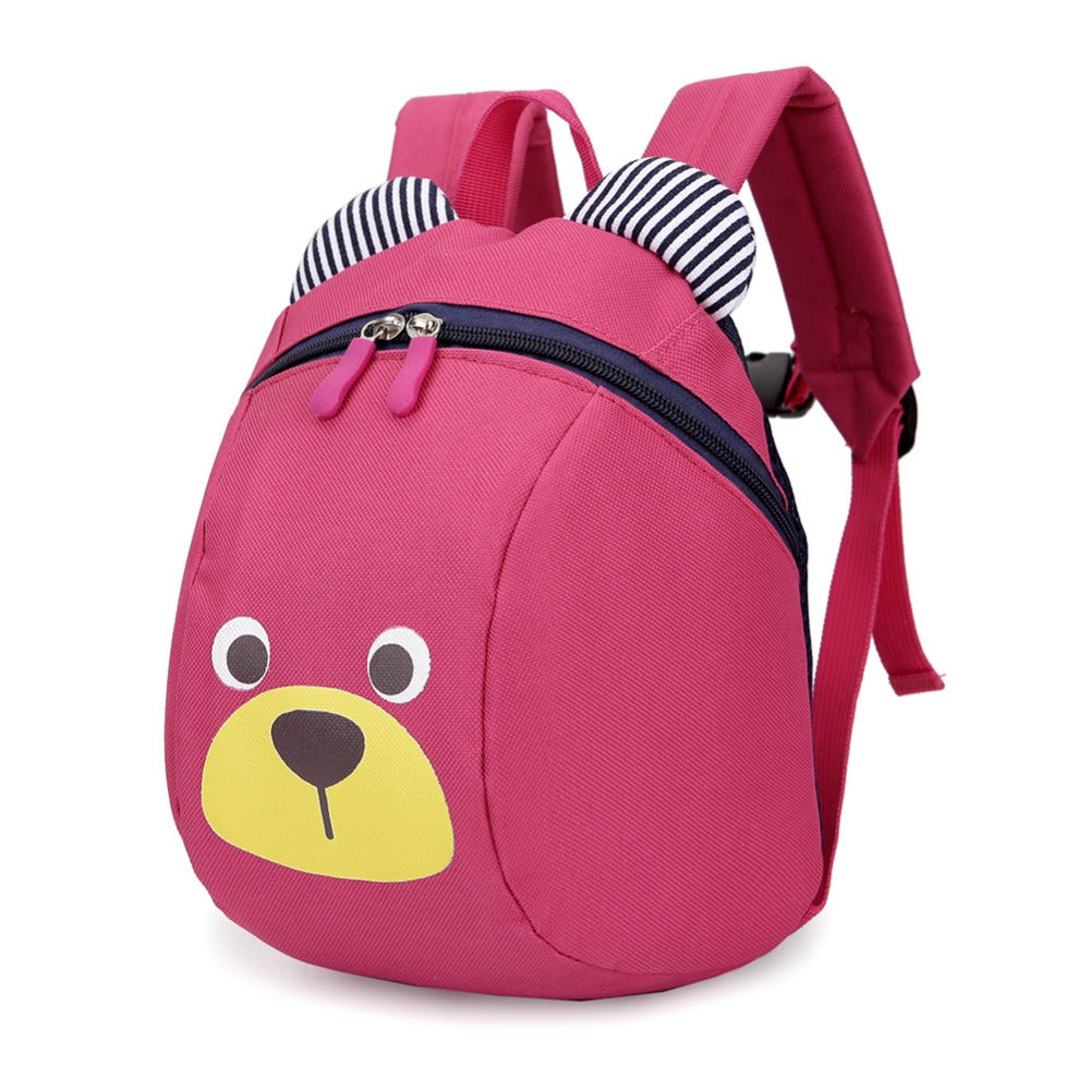 Pink Anti-Lost Bear Backpack