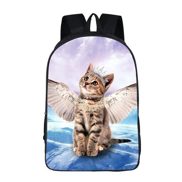 Angel Kitty Cat Backpack Style 1