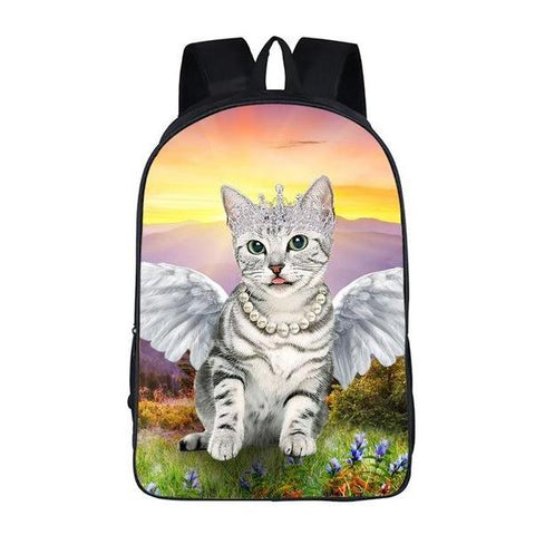 Kitty Cat Angel Backpack Style 6
