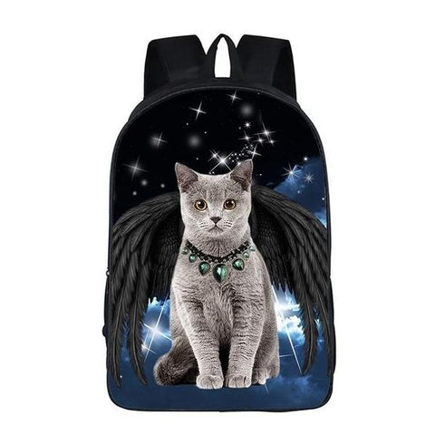 Angel Kitty Cat School Bag Style 3