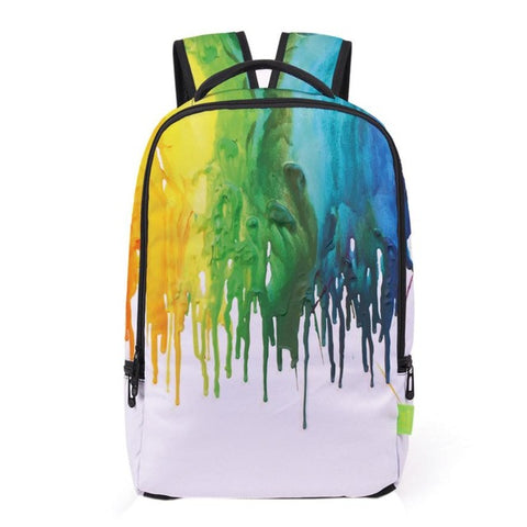 Multi Color Paint School Bag