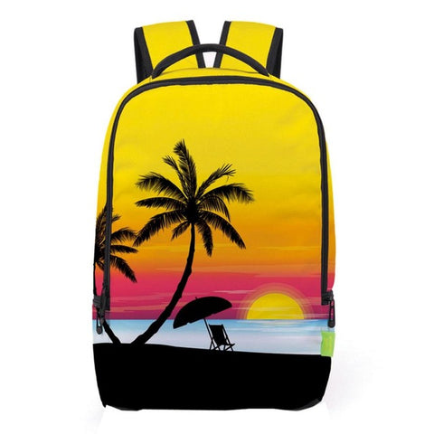 Yellow Palm Tree Backpack