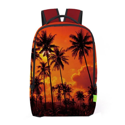 Orange Palm Tree Backpack