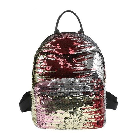 Mini Multi-Color Sequin Backpack Colorful