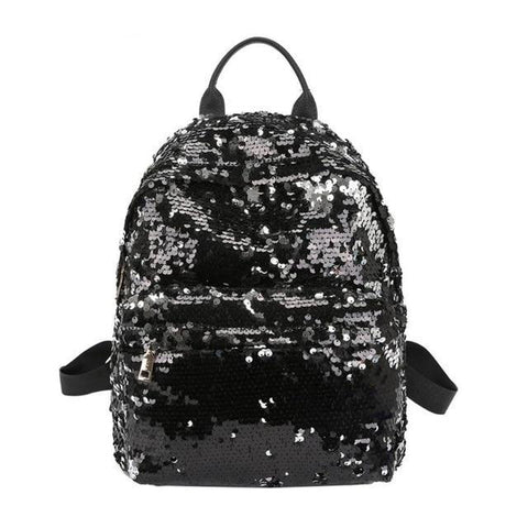 Mini Multi-Color Sequin Backpack Black
