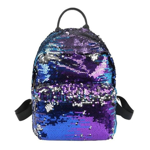 Mini Multi-Color Sequin Backpack Blue