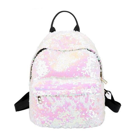 Mini Multi-Color Sequin Backpack Pink