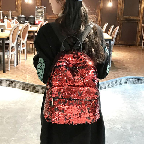 Mini Multi-Color Sequin Backpack