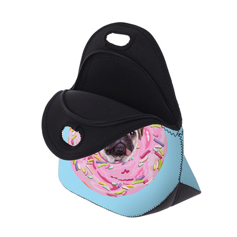Open Pug Donut Lunch Bag