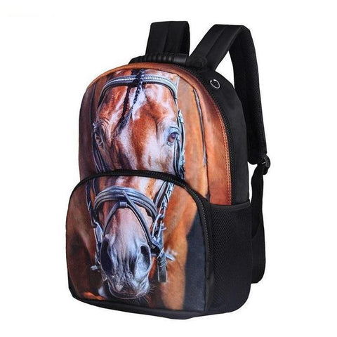 Thoroughbred Horse Print Backpack