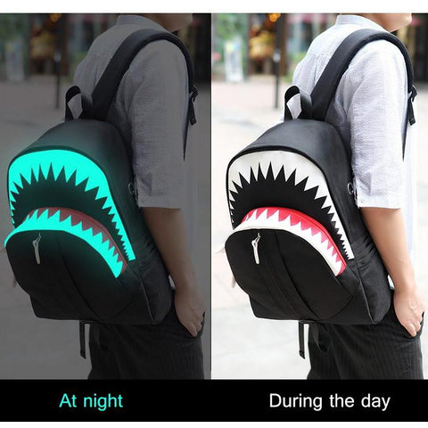 Luminous 3D Shark Backpack