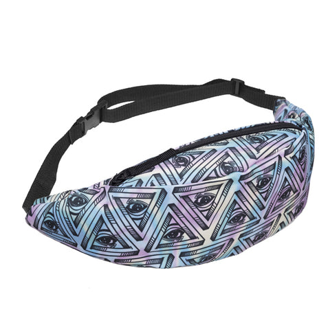 All Seeing Eye Pyramid Print Fanny Pack Waist Bag