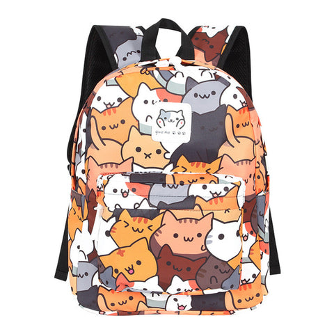 Neko Atsume Anime Cat Backpack