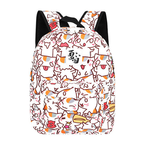 Cute Anime Cat Pattern Backpack