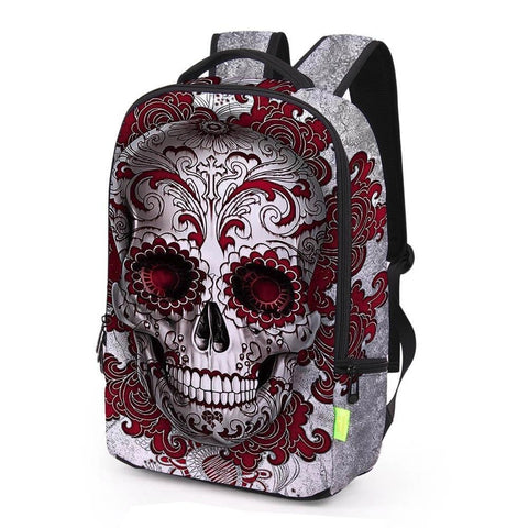 Wrap-Around Aztec Skull Print Backpack