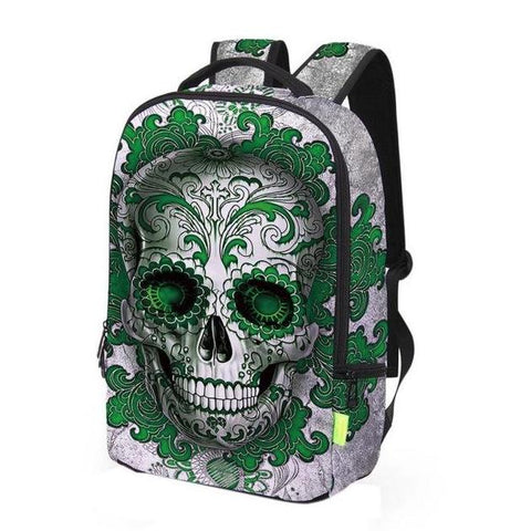 Wrap-Around Aztec Skull Backpack