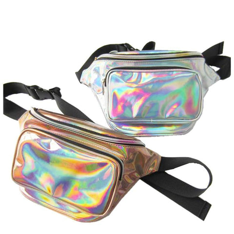 2-Pocket Reflective / Holographic Fanny Pack