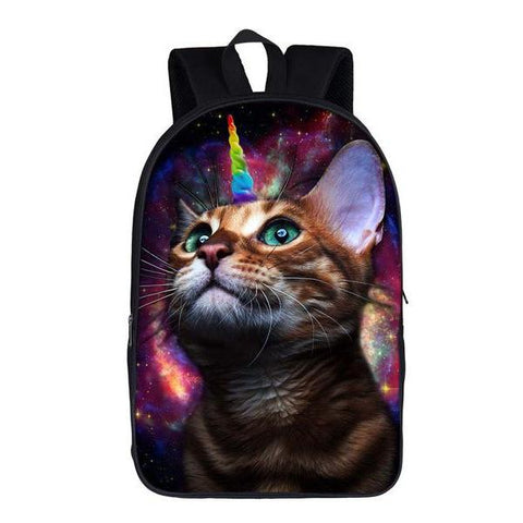 Funny Unicorn Kitty Cat Backpack