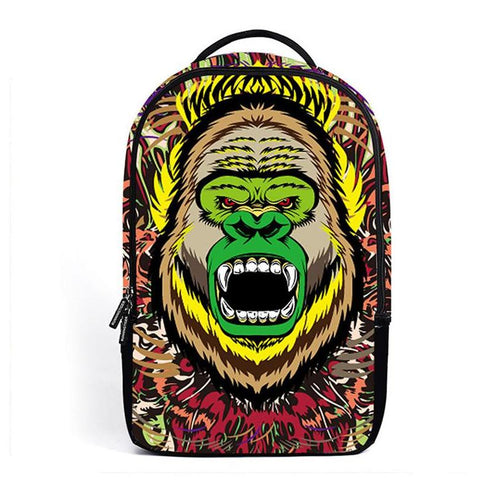 Psychedelic Angry Gorilla Backpack
