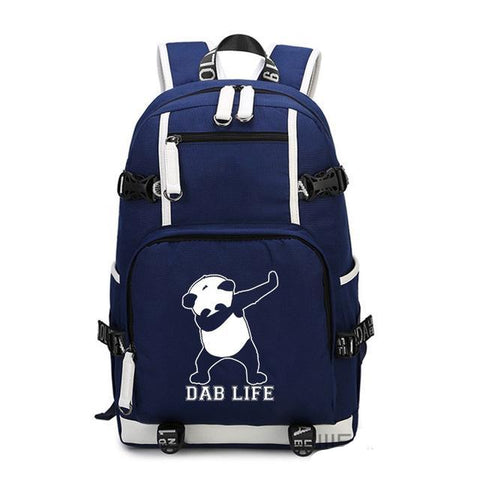 Blue Dab Life Dabbing Panda Backpack