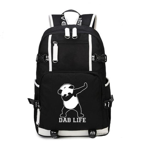Black Dab Life Dabbing Panda Backpack