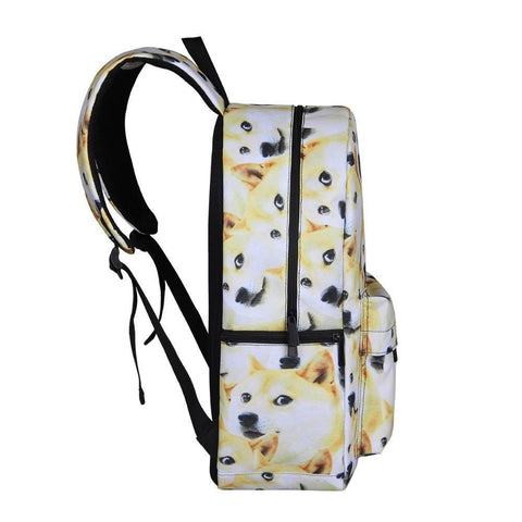 Side of Shiba Inu Dog Backpack