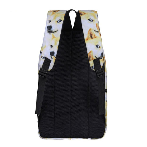 Back of Shiba Inu Dog Backpack