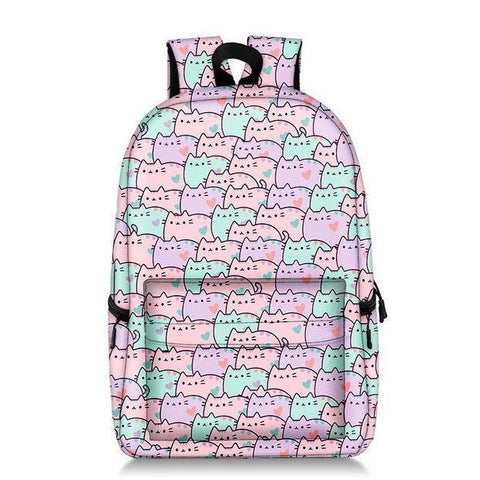 Pusheen Cat Pattern Backpack