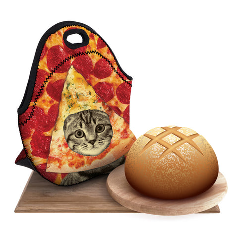 Pizza Cat Lunch Bag