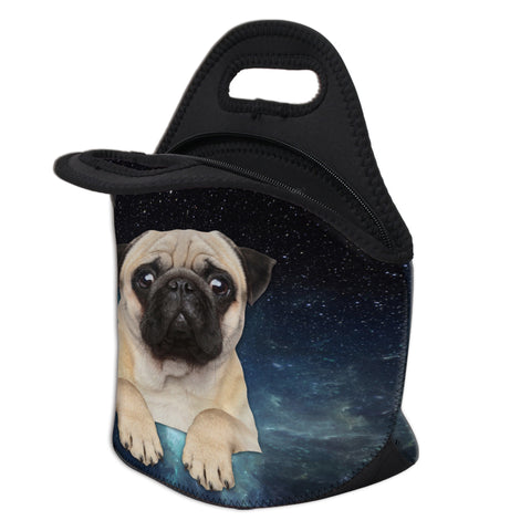 Open Pug Lunch Bag