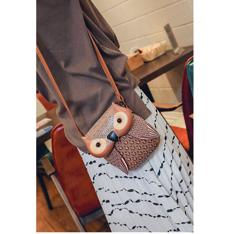 Mini Owl Purse / Messenger Bag